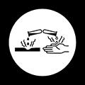 Class E Corrosive Old Symbol