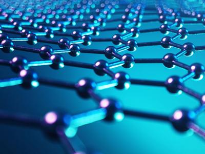 Molecular structure of graphene, a chemical hazard that can be managed with Chemscape Safety Technologies systems.