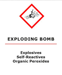 Explosives, Self-Reactive and Organic Peroxides GHS Pictogram for WHMIS 2015