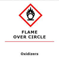 Oxidizers GHS Pictogram for WHMIS 2015